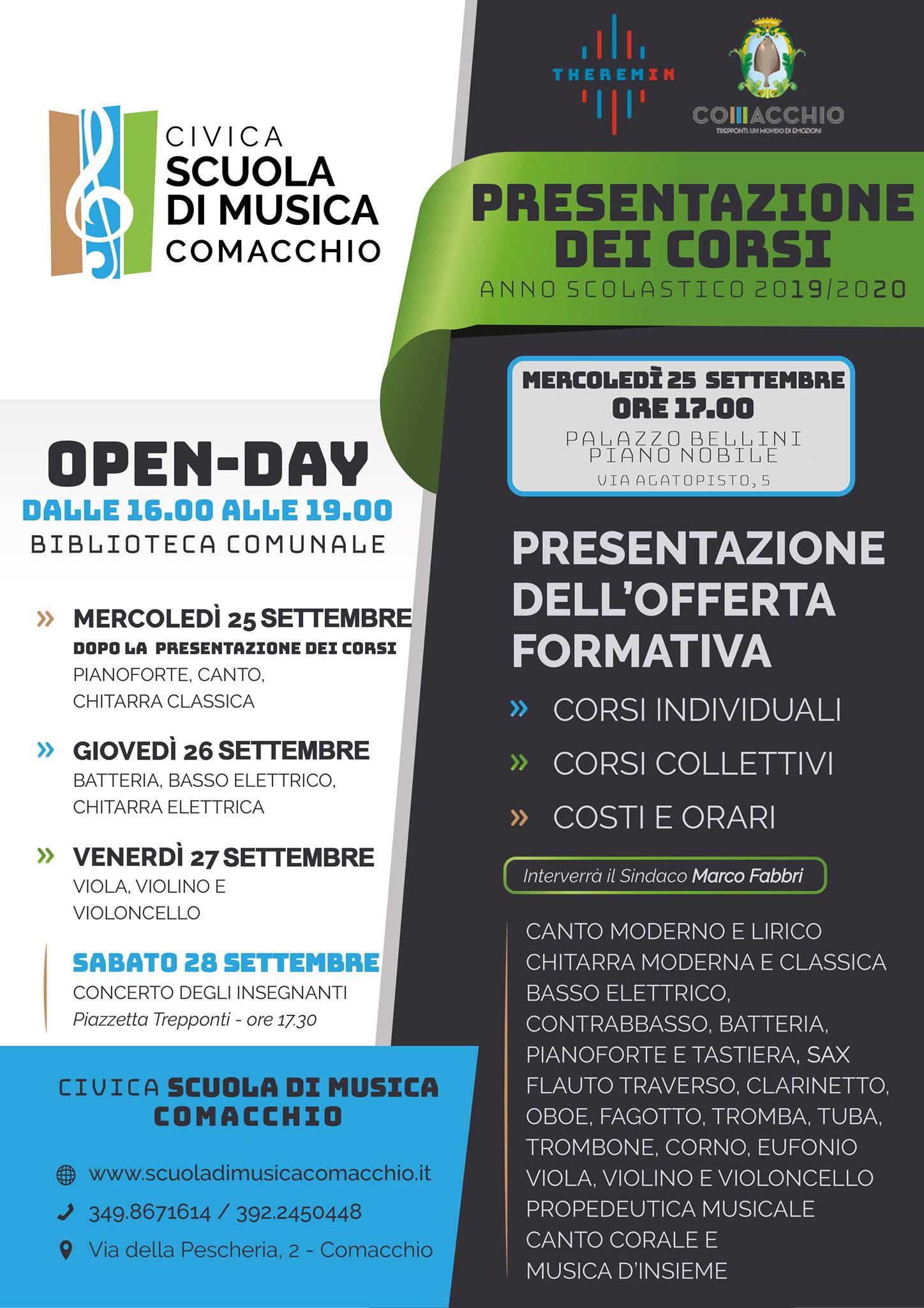 Locandina Presentazione e Open Day Comacchio